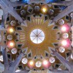 Barcelone : Sagrada Familia déco de plafond