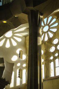 Barcelone : Sagrada Familia jeux de lumière